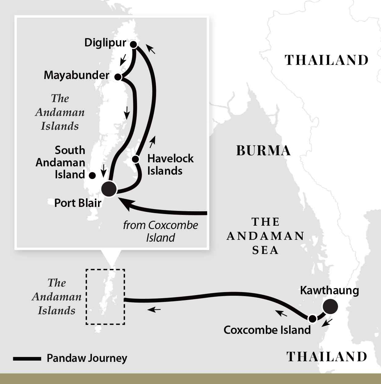 Map for Passage Across The Andaman Sea