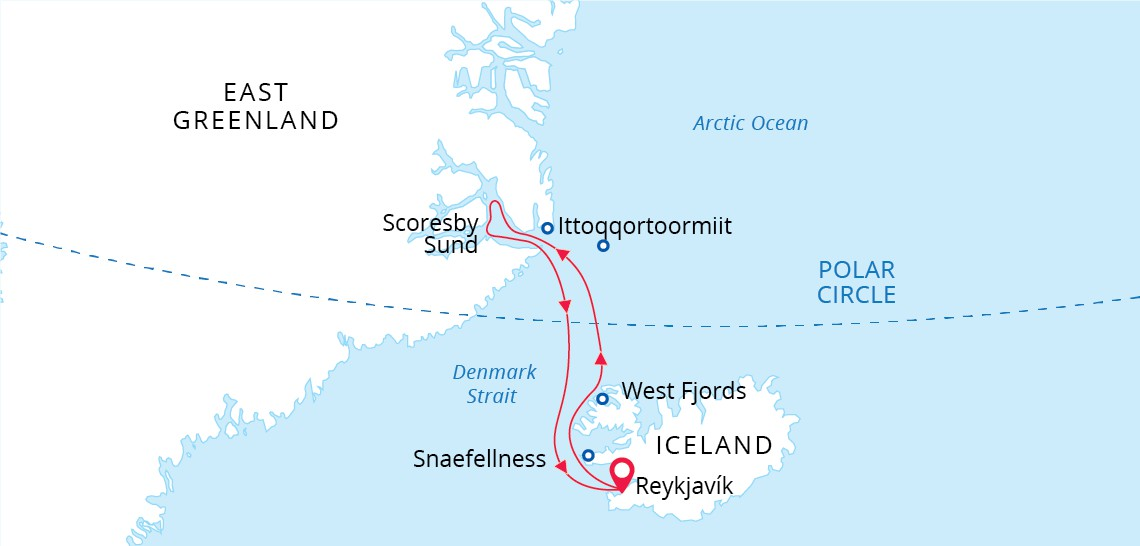 Map for Arctic Sights and Northern Lights