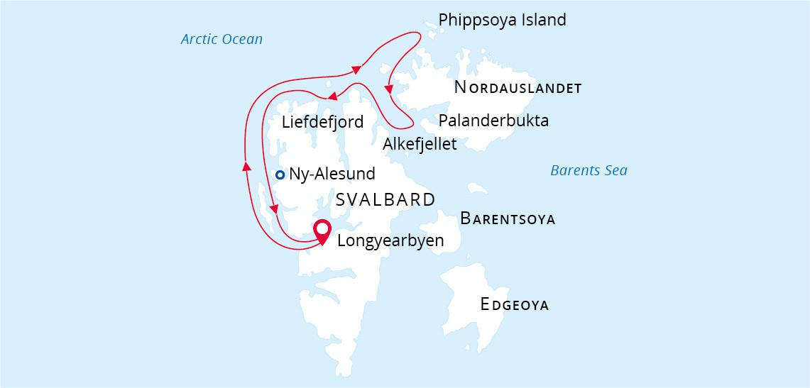 Map for Searching for Polar Bears