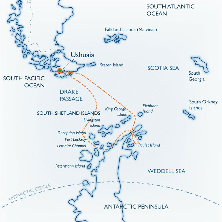 Map for Weddell Sea Quest