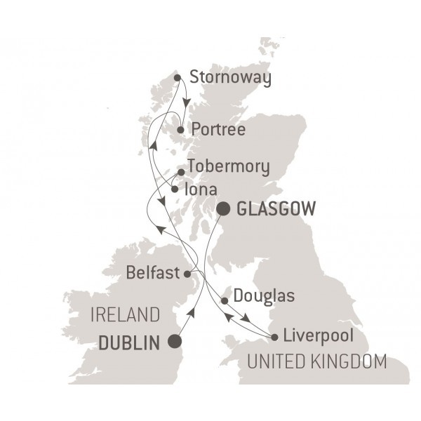 Map for Secrets of Scotland (Le Boreal)