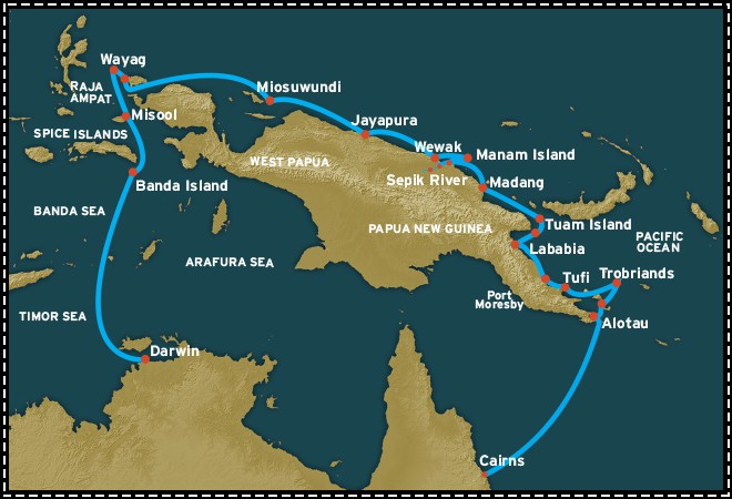 Map for Full New Guinea Circle (Coral Adventurer)