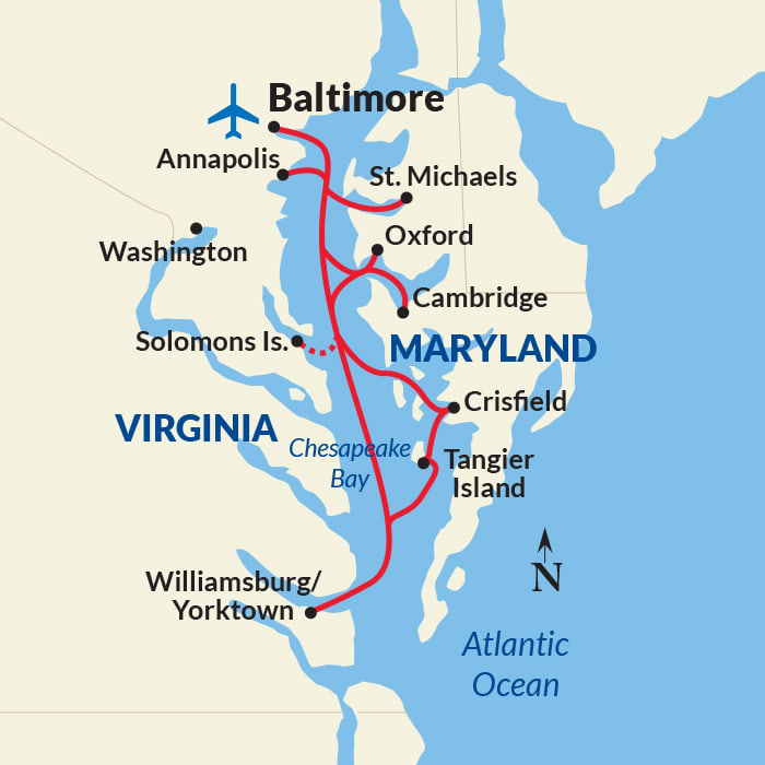 Map for Chesapeake Bay Exploration