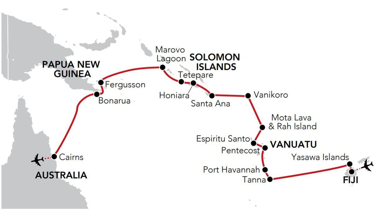 Map for Secrets of Melanesia