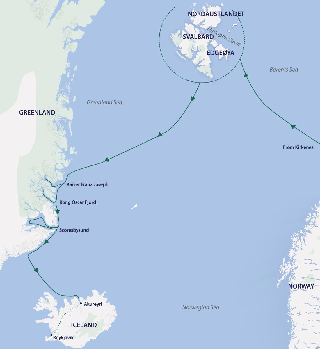 Map for Arctic Complete 2021 (Greg Mortimer)