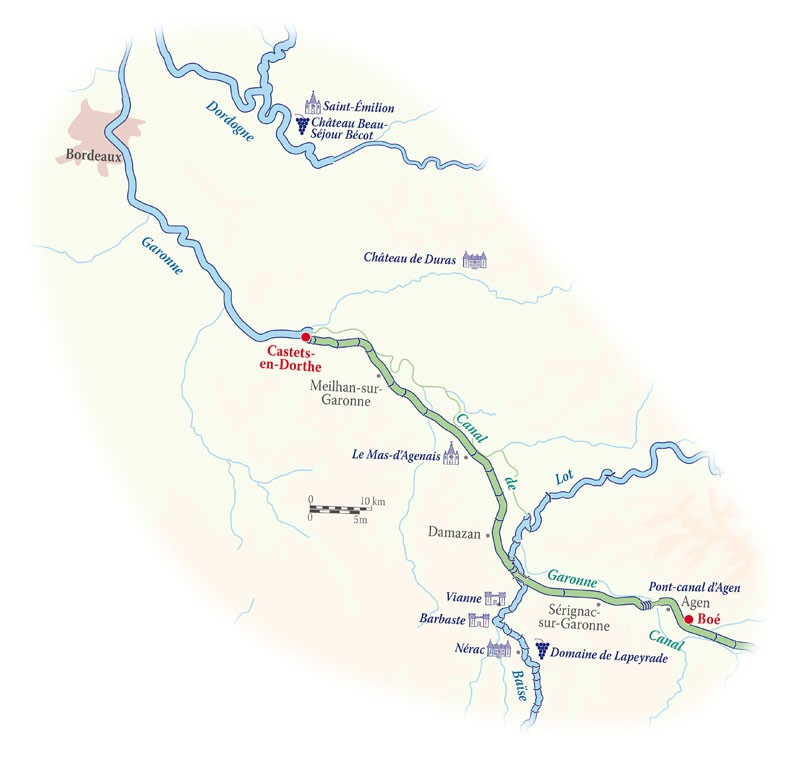 Map for Bordeaux Cruise (Rosa)