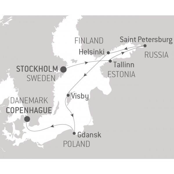 Map for A Musical Tour of the Baltic Sea