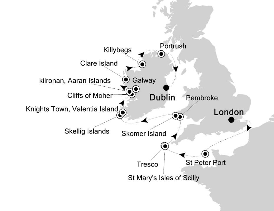 Map for The British Isles and Ireland