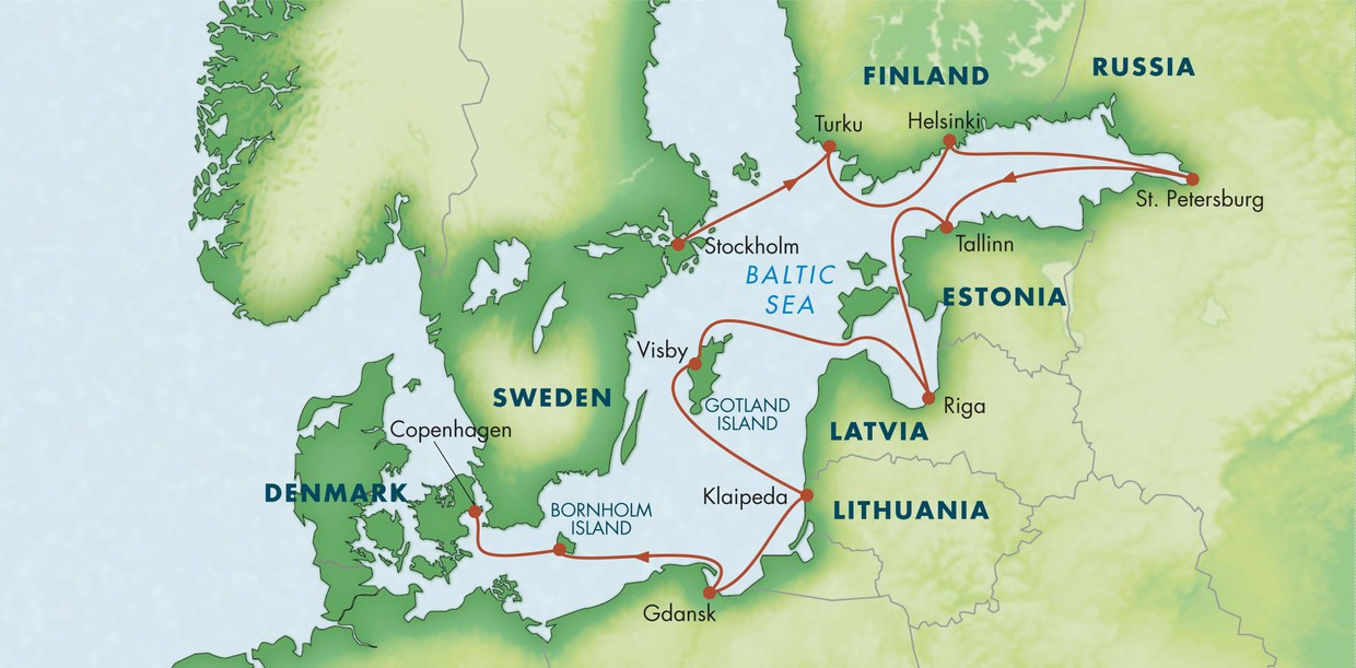 Map for Best of the Baltic