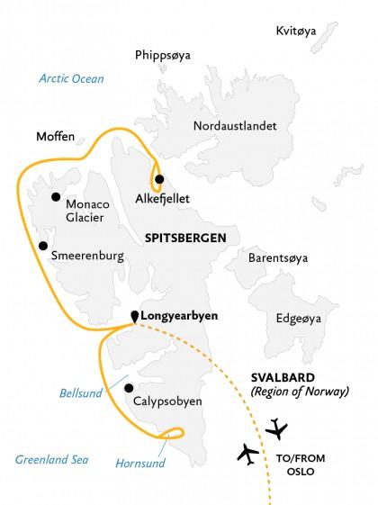 Map for Intro to Spitsbergen (World Explorer)