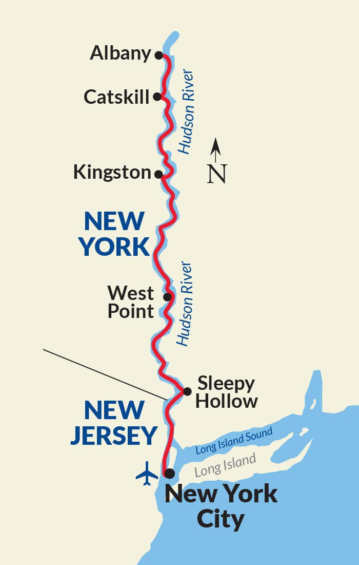Map for Hudson River Cruise (American Constitution)