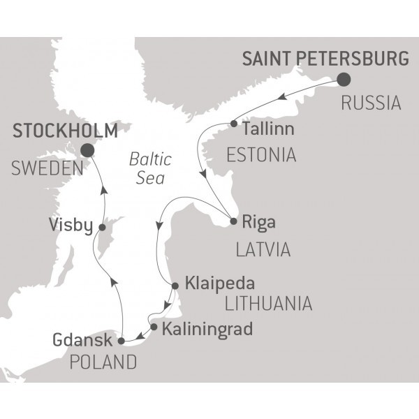 Map for Jewels of the Baltic Sea (Le Dumont dUrville)