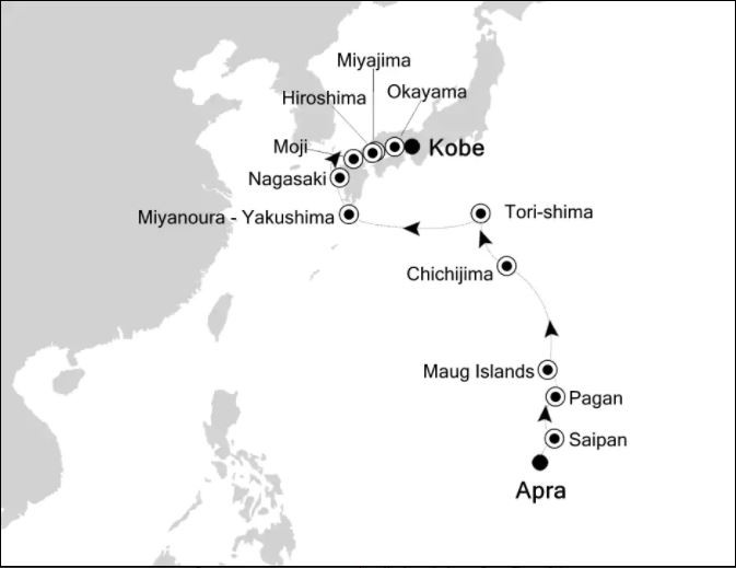 Map for Along the Pacific Ring of Fire