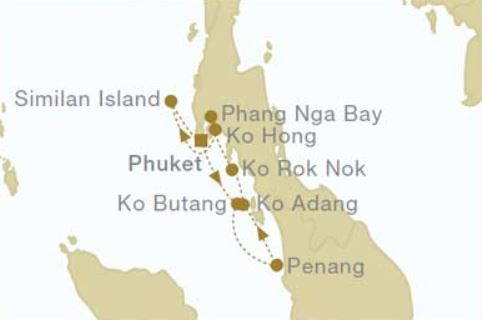 Map for Thailand: Sailing Southbound