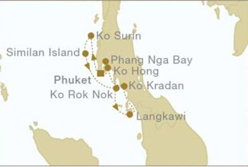 Map for Thailand: Sailing Northbound