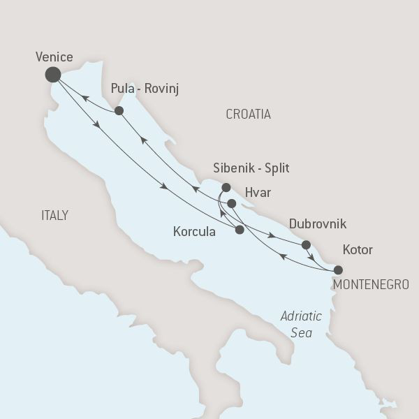 Map for The Best of Croatia