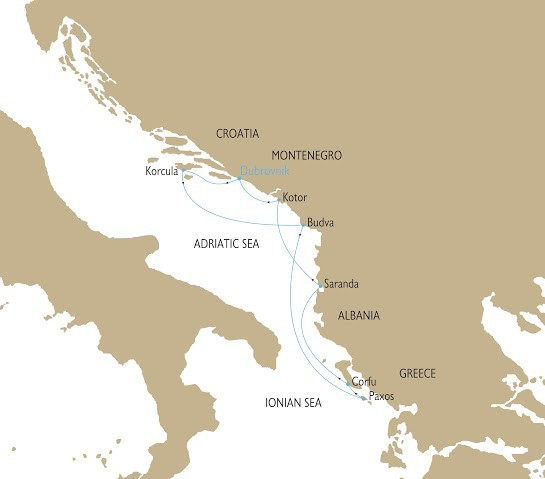 Map for The Adriatic Odyssey - Tales of 4 Countries