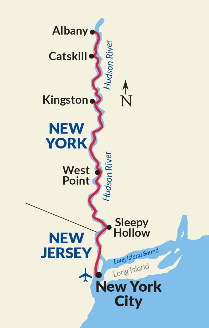 Map for Hudson River Voyage
