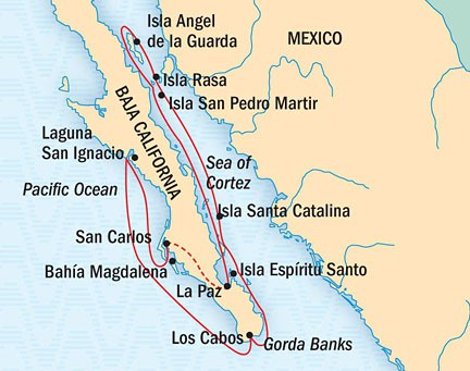 Map for Baja California: A Remarkable Journey