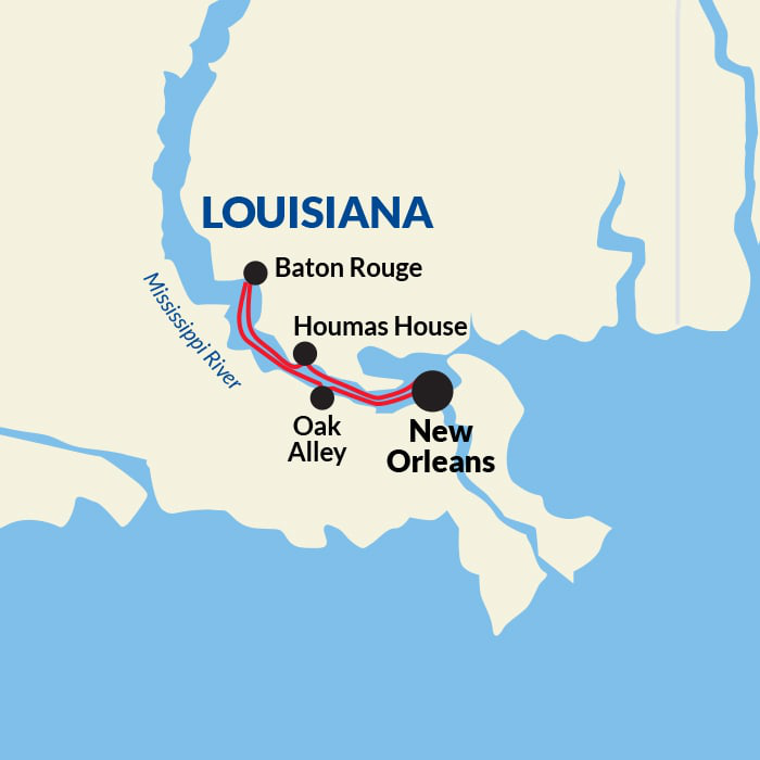 Map for The Best of the Mississippi River