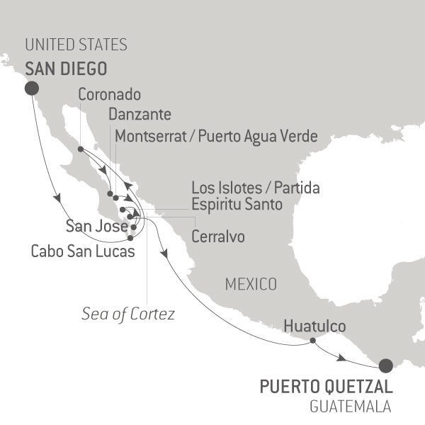 Map for The Sea of Cortez
