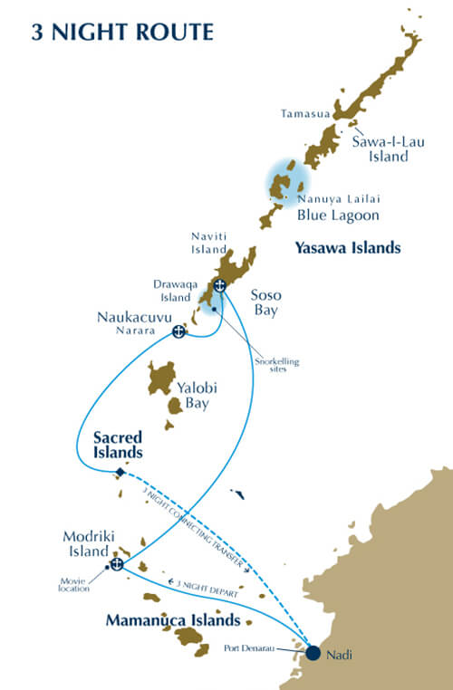 Map for Explorer Cruise