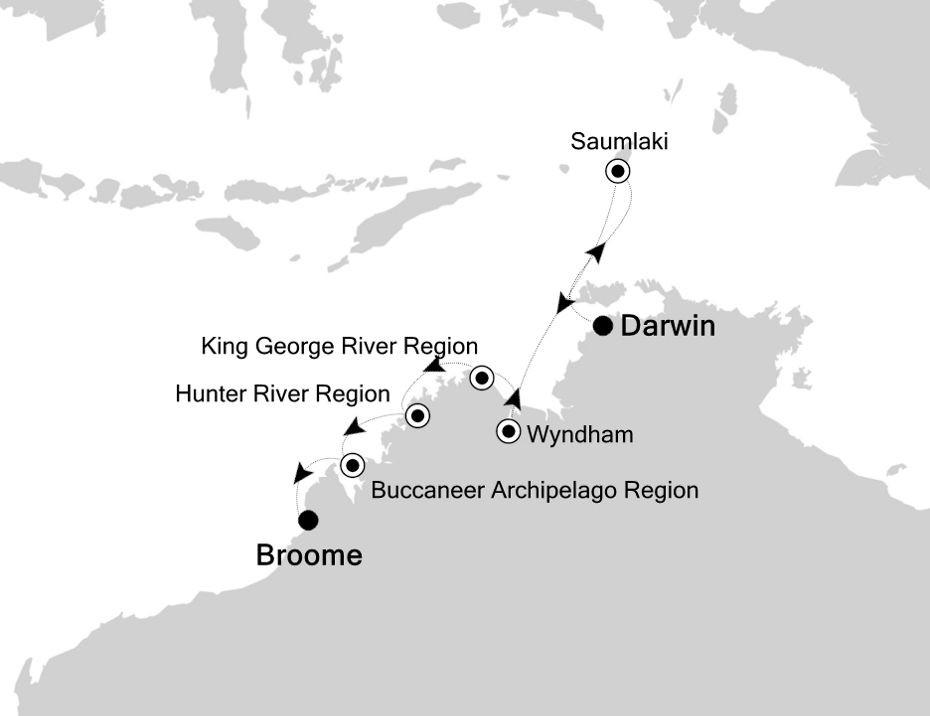 Map for Australia's Hidden Treasures