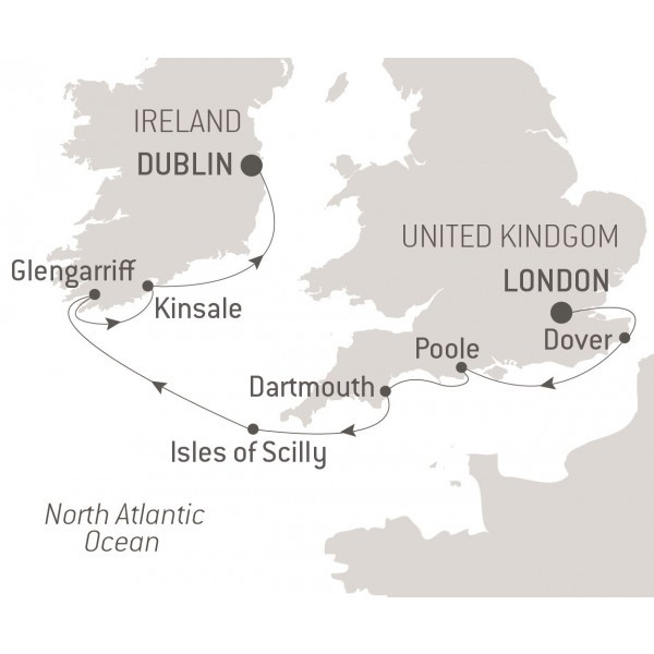 Map for From the English Shores to Ireland