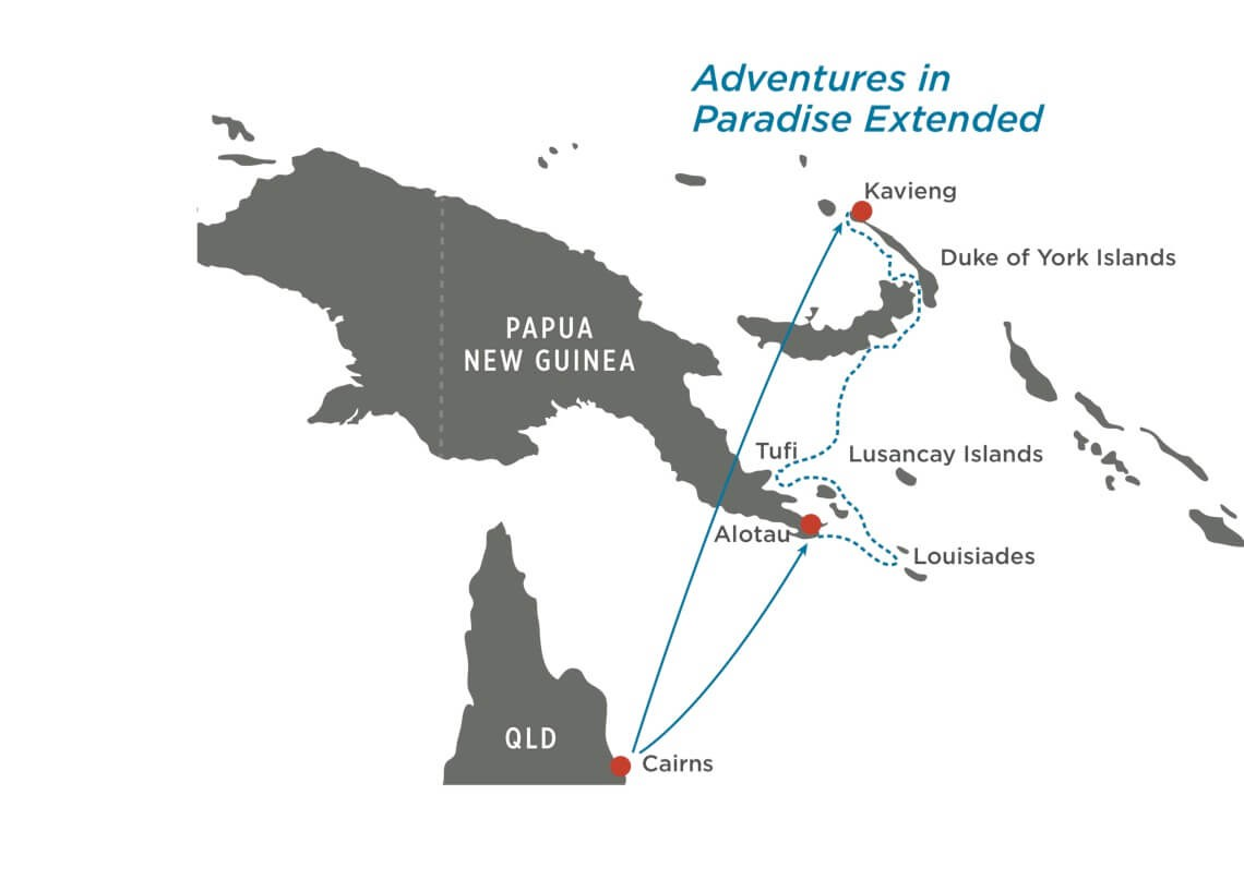Map for Adventures in Paradise