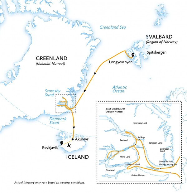 Map for Three Arctic Islands