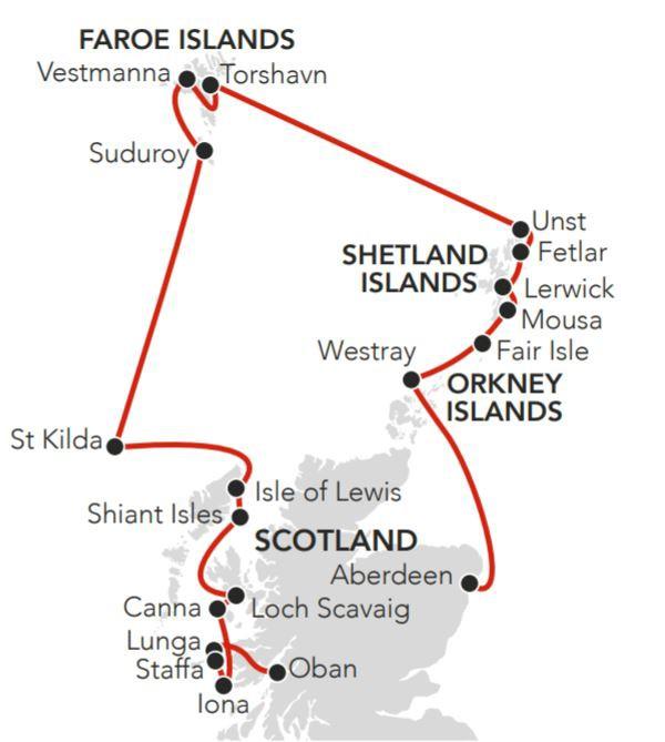 Map for Atlantic Island Odyssey 2020