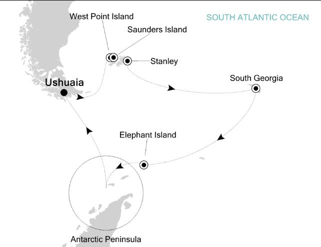 Map for Explorer's Antarctica (Silver Explorer)