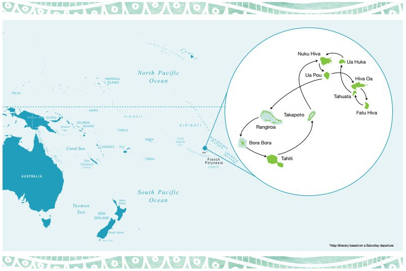 Map for Enchanting Marquesas Islands of French Polynesia 2021