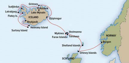Map for Legendary Northern Isles: Scotland, Faroes, & Iceland