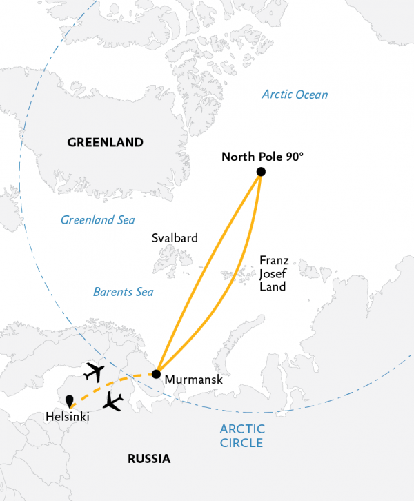 Map for North Pole: The Ultimate Arctic Adventure
