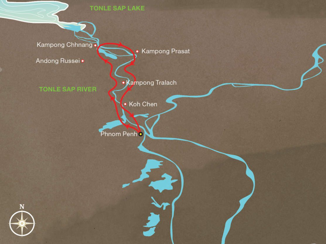 Map for Discovery Cruise - Phnom Penh