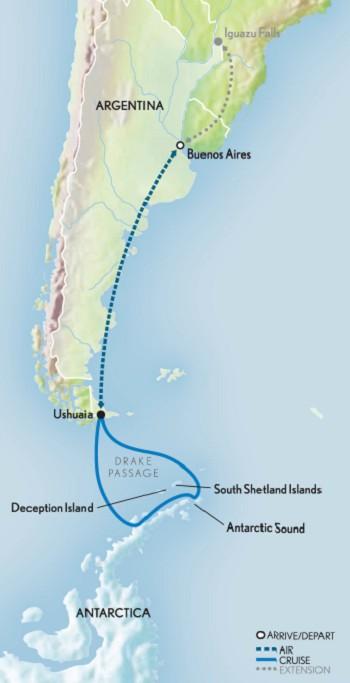 Map for Classic Antarctica 2019-2020