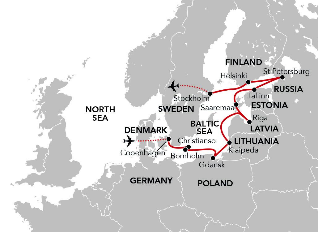 Map for Baltic Renaissance