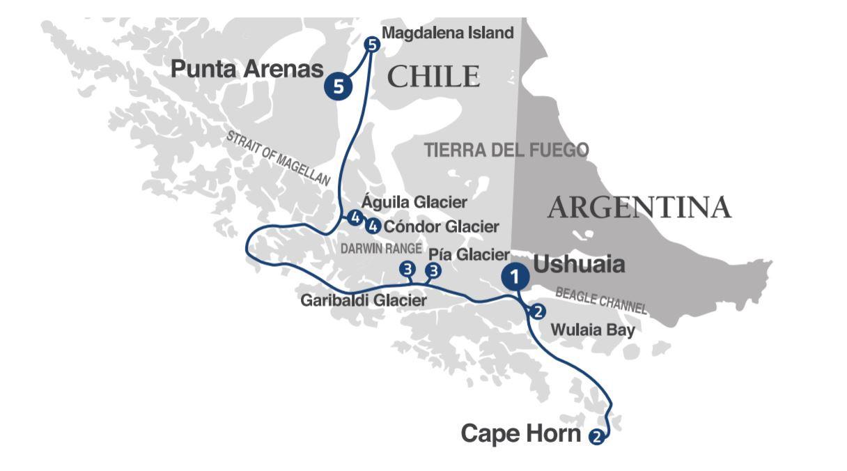 Map for Patagonian Explorer