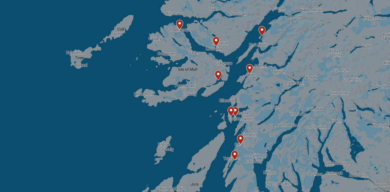 Map for Hebridean Cruise: The Sounds of Mull, Luing, Shuna and Jura