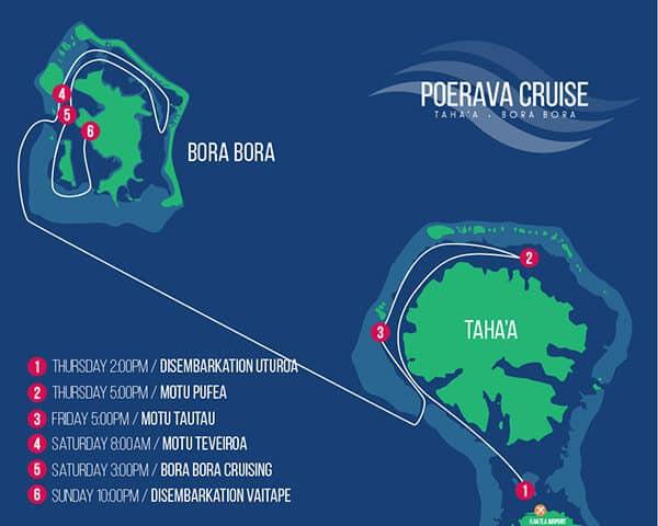Map for Poerava Cruise