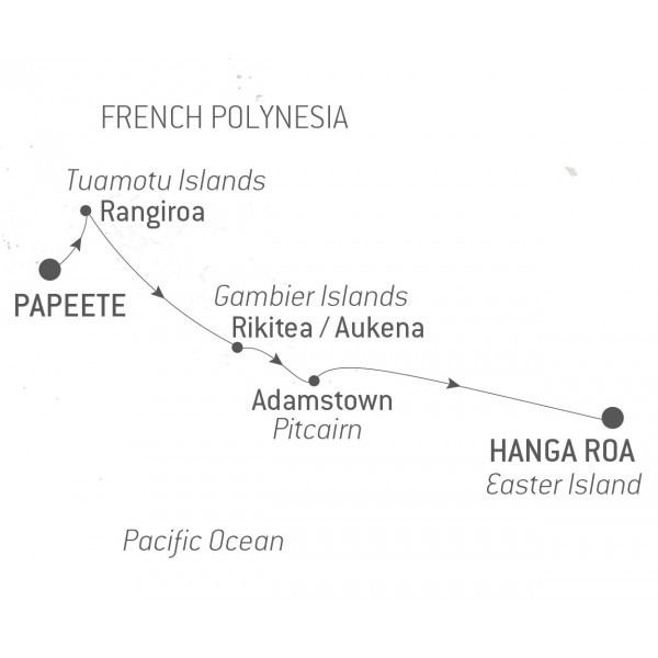 Map for Polynesia & Easter Island - with Nat Geo