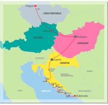 Map for Prague, Vienna, Budapest & the Adriatic