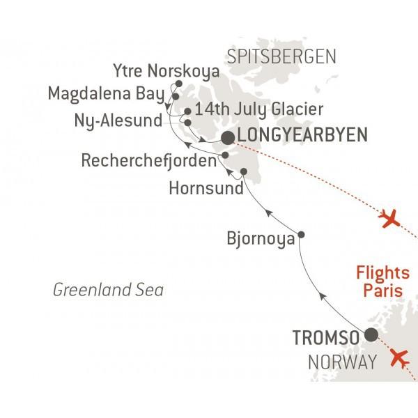 Map for Pristine Spitsbergen - with Nat Geo