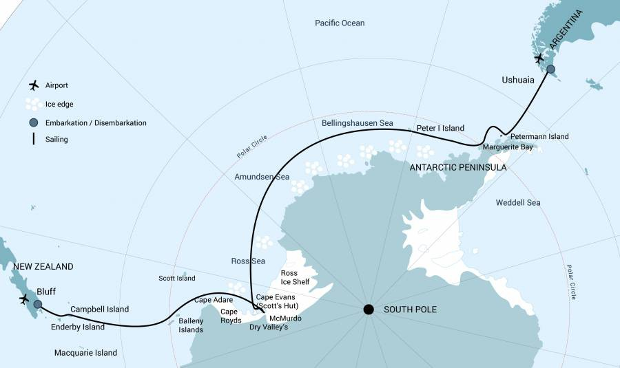 Map for Ross Sea with Helicopters - January 2020/2021