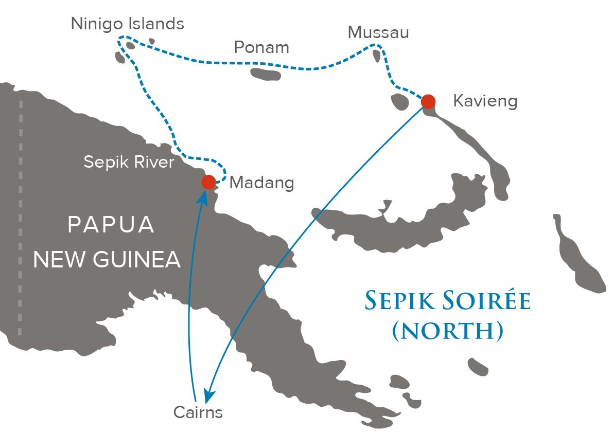 Map for Sepik Soiree (Papua New Guinea)