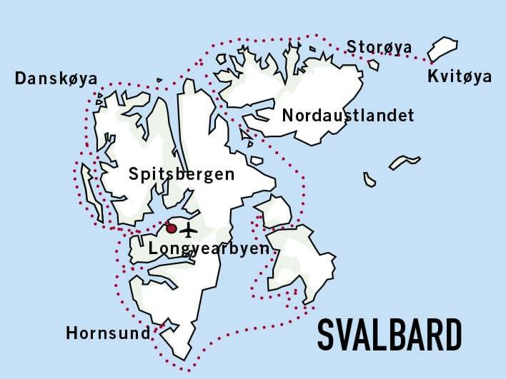 Map for Expedition Svalbard 2020