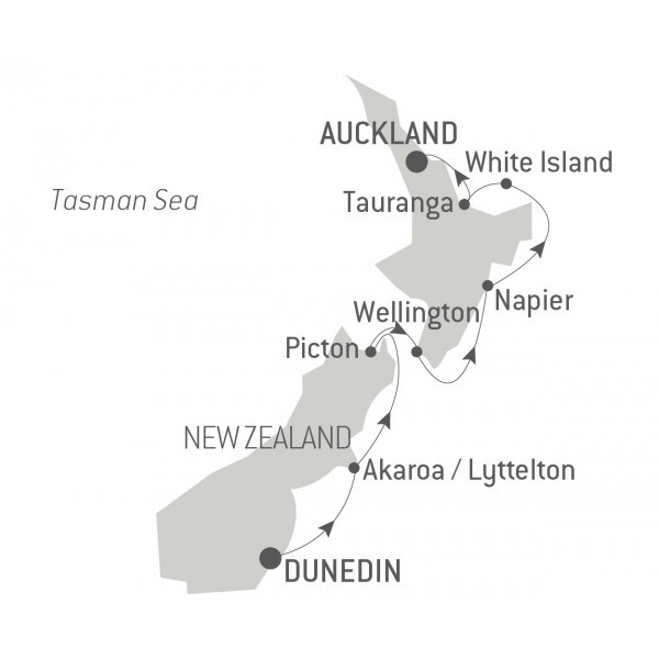 Map for The Best of New Zealand (Le Bellot)