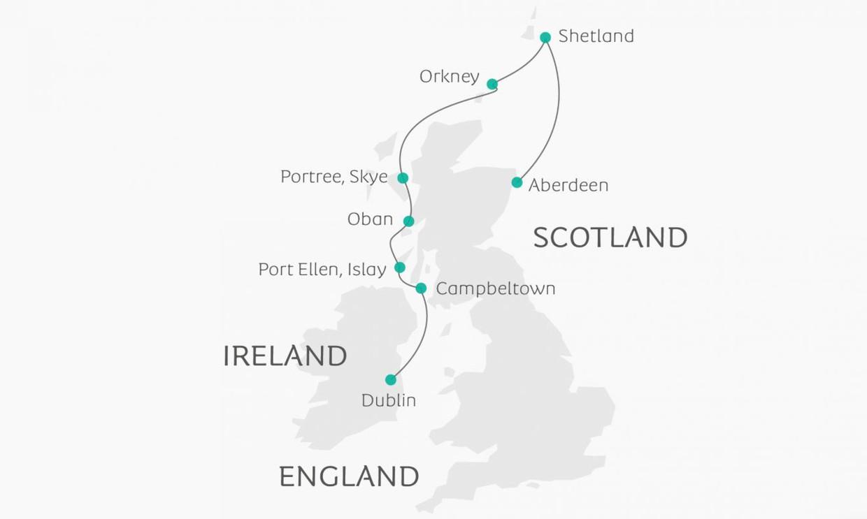 Map for The Celtic Seaways (Ocean Atlantic)