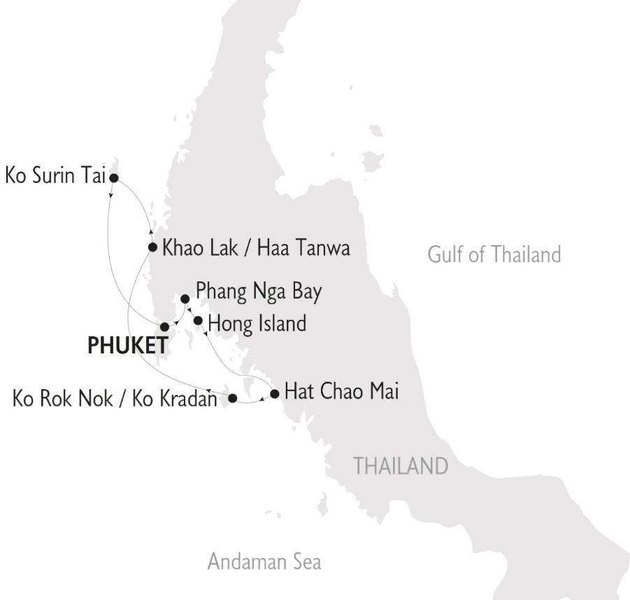 Map for The Thailand Cruise (Panorama II)
